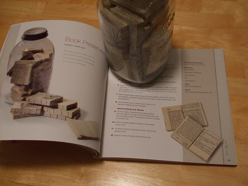 project page with book jar
