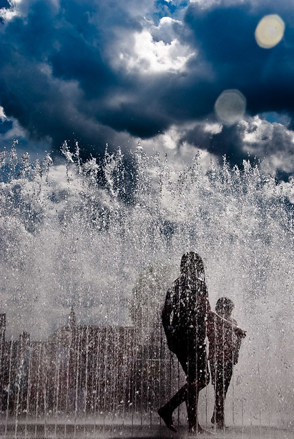 interactive water exhibit on south bank