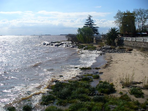 Coastline of Colonia on the oldside
