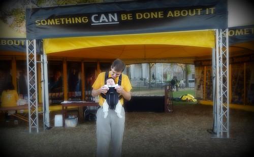 Mackenzie at the Scientology VM Tent