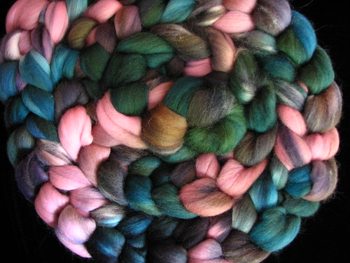 Teal Deer  - 8 oz Hand Dyed Corriedale Wool Top Roving