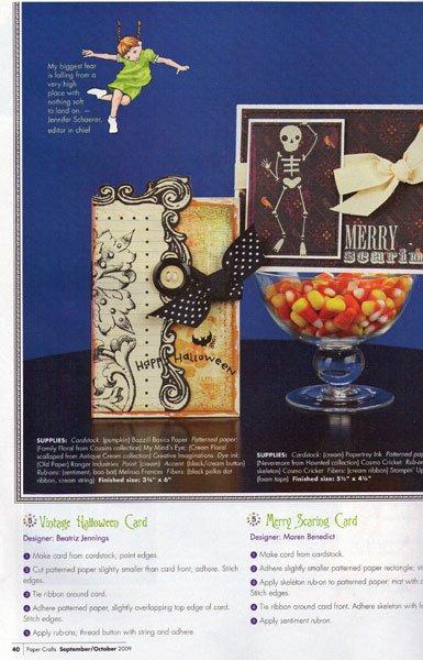 Heres Beatriz Jennings shabby chic Happy Halloween Card.