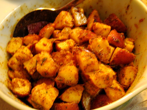 garlicky potatoes