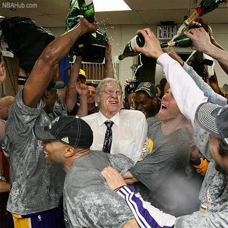 Phil Jackson finally gets to shower again after 7 long years.