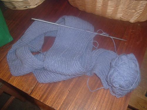 Plain ribbed scarf