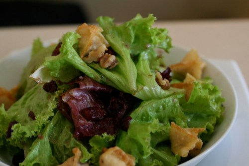 Fruity Wonton Salad at Unit 8 Cafe