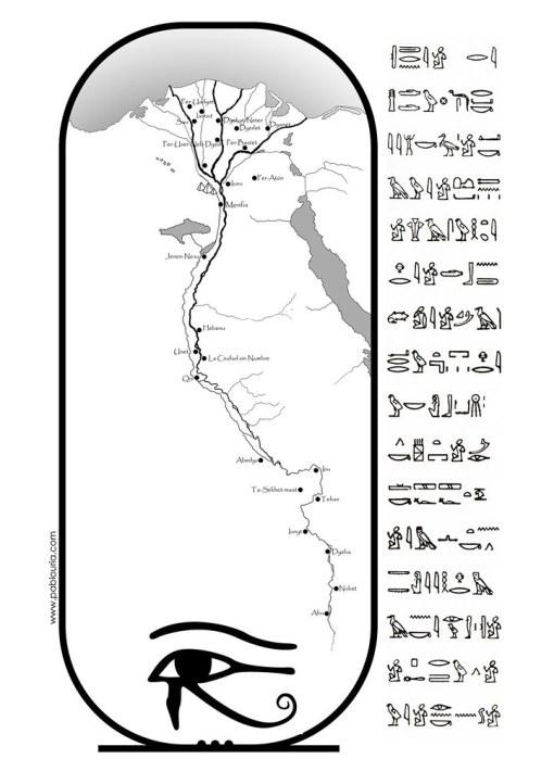 Mapas La Luz de Egipto de León Arsenal - Edhasa | Pablo Uría Díez