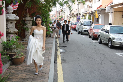 There was a wedding shoot going on there and the bride was taking a breather and SNAP !