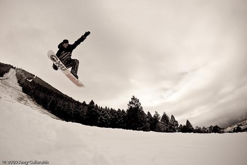 David on the Snow King jump