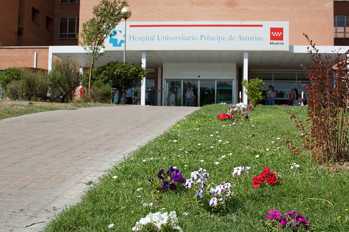 Entrada del hospital de Alcalá