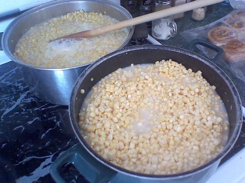 Making corn for freezing