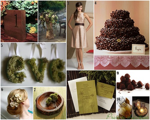 Wedding Details :: Olive, Cream And Brown