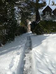 Snowblower path