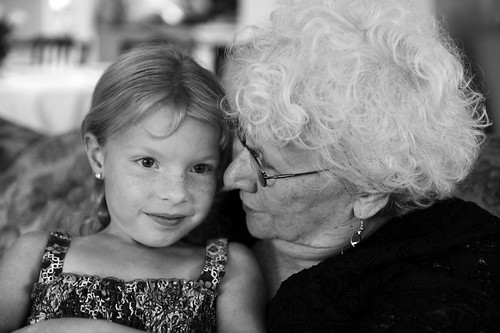having a talk with grandma