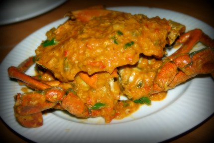 Red Trellis Crabs cooked in Coconut Milk