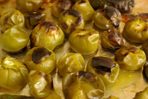 roasted tomatillos