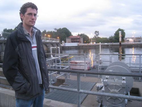 Neil at the Ballard Locks