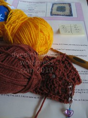 CAL January Rav sq WIP (by dyedinthewool)
