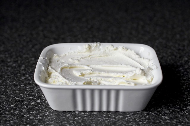 homemade, bastardized ricotta