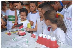 Escovódromo na Escola Coronel José Domingos - Programa Saúde na Escola. Foto: Passarinho/Pref.Olinda