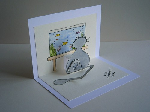 kitty entertaintment centre - pop up card