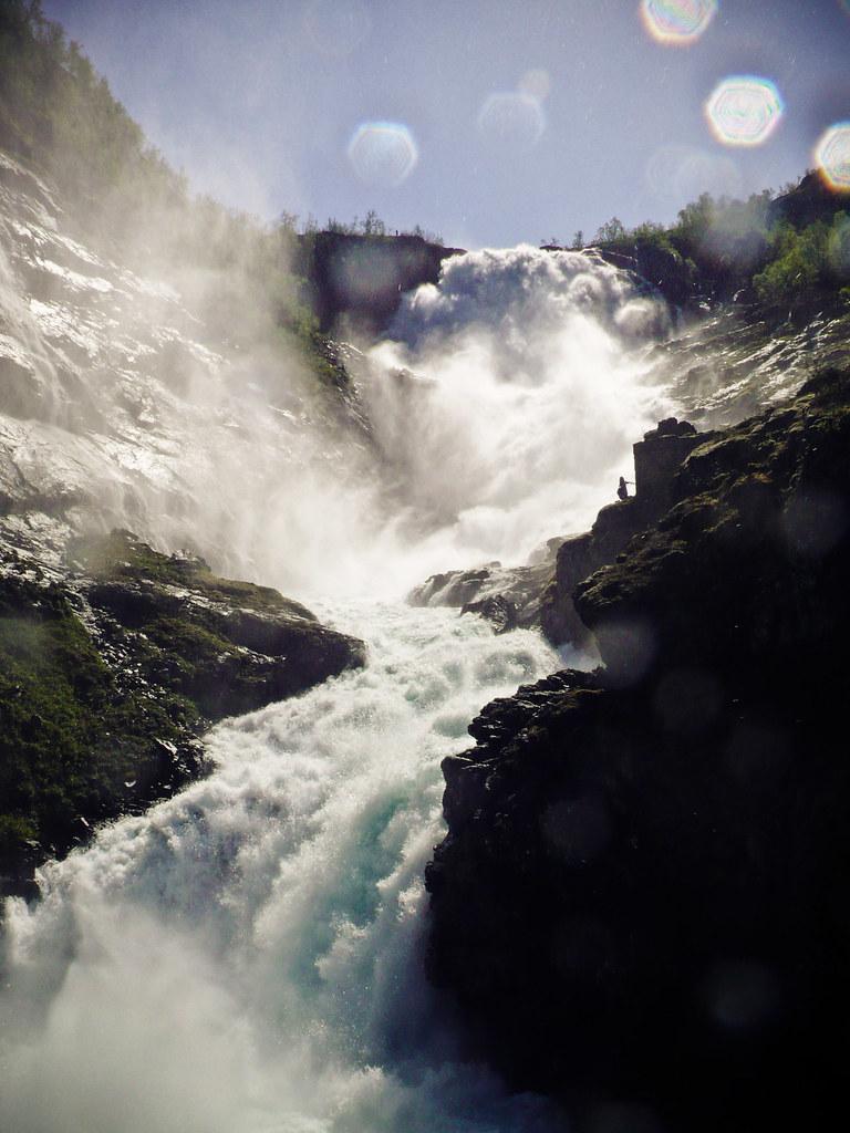 Kjosfossen Waterfall by unicellular