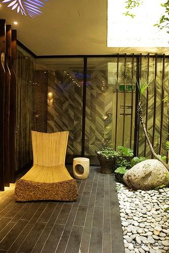 楓舞套房內的庭園造景及戶外天井。