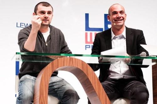 Gary Vaynerchuk and Loic Le Meur at Le Web 09
