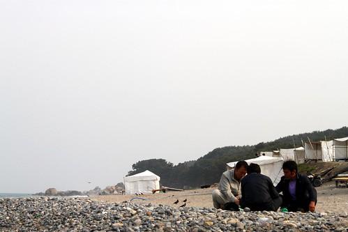 Drinks on the shrine beach