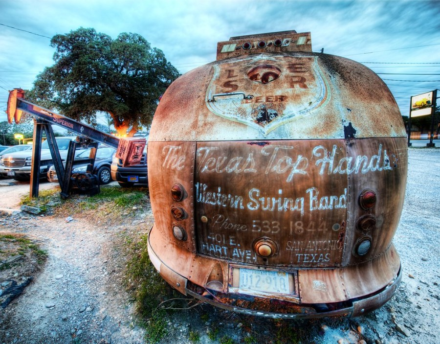The Broken Spoke Bus for the Texas Top Hands Western Swing Band