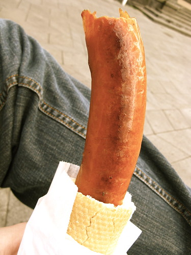 phallic hot dog
