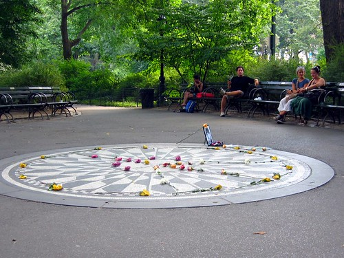 Strawberry Fields in Central Park.
