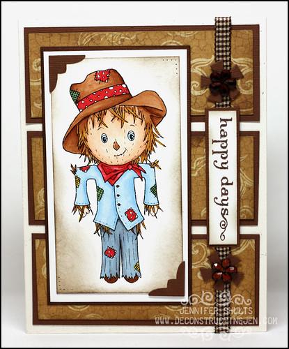 Wild Flower Kids Happy Days Scarecrow card