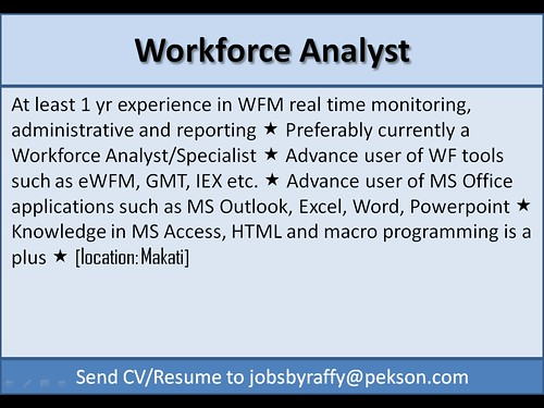 Workforce Analyst