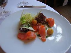 First Course:  Balik Salmon
