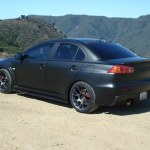 My Matte Flat Black Vinyl Evo X Evolutionm Mitsubishi Lancer And Lancer Evolution Community