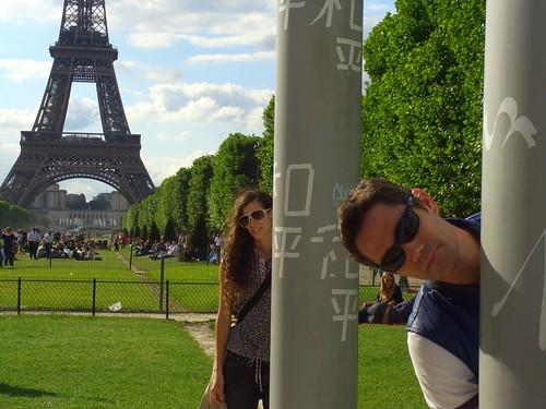 Aya and Marshall and La Tour Eiffel