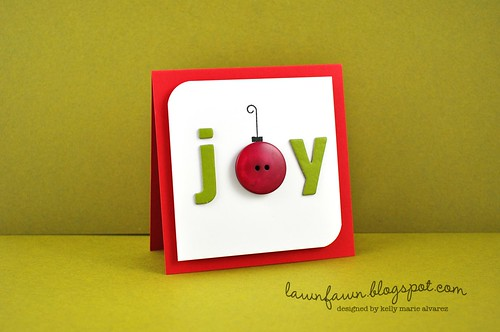 We loved Kelly Maries festive Joy Card.