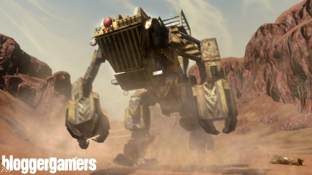 En varias ocaciones podremos utilizar maquinas pesadas como esta que nos serviran para acabar con nuestros enemigos o para destruir mas instalaciones de la nada.