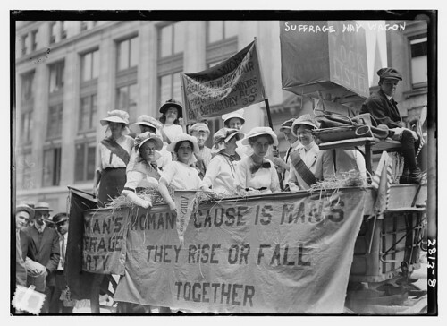 Suffrage Hay wagon (LOC)