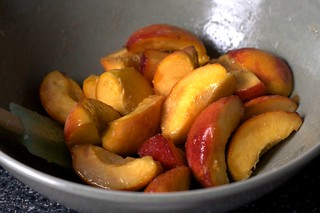 peaches, macerating