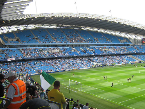 Looking towards the Colin Bell Stand, named after Citys greatest ever player