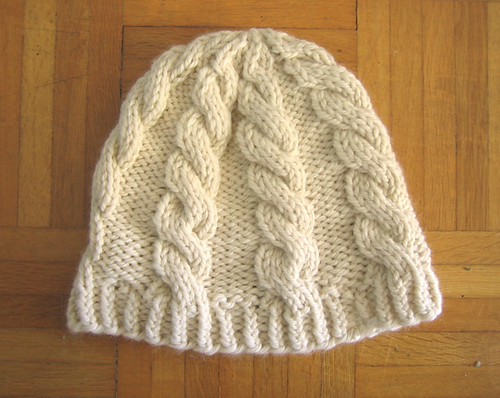 Chunky Cable Hat Free Pattern Tin Can Knits