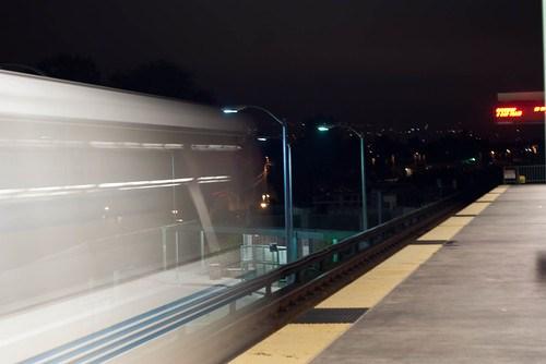 09699 Richmond train departs Bayfair BART Station