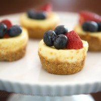 Mini 4th of July Cheesecake Bites