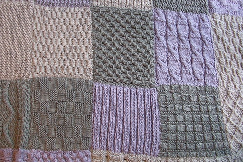 Close up of a few squares