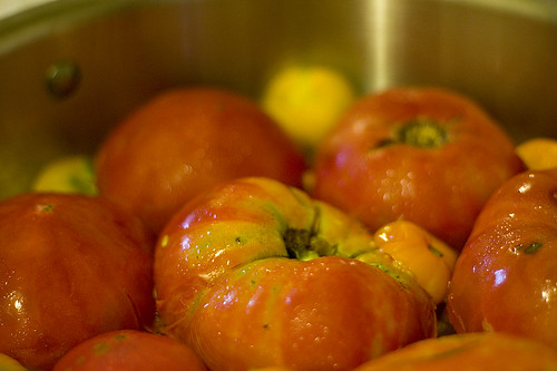 Homegrown Tomatoes Cooking