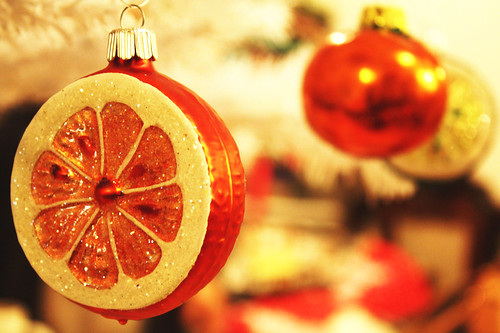 Orange Glass Ornament