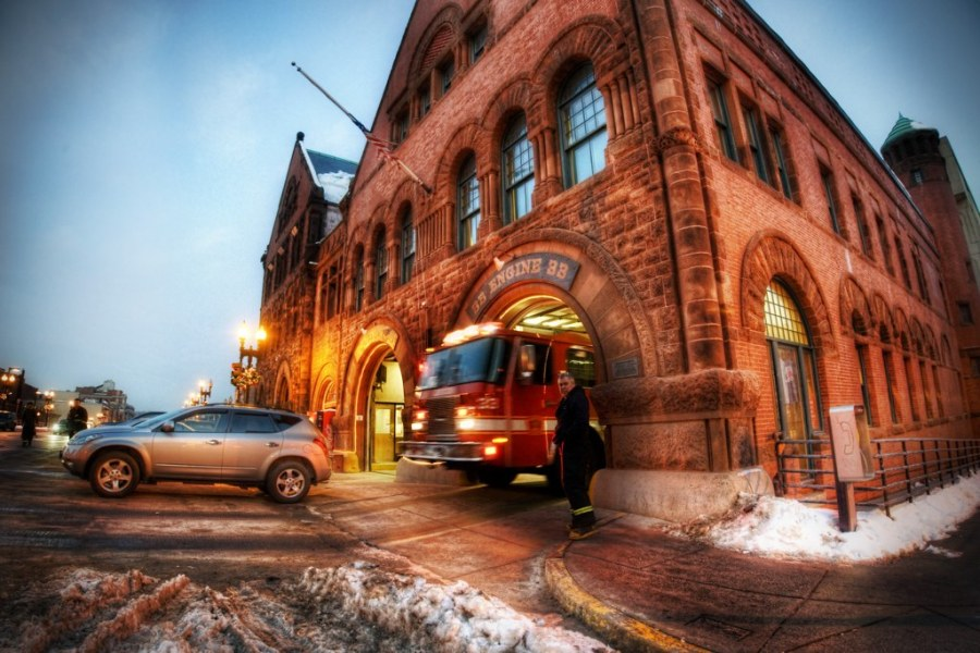 Red Engine Number 33 - The Firehouse of Boston