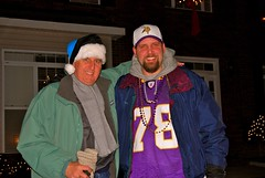 Papa & CSP all decked out for the Panthers/ Vikings game!